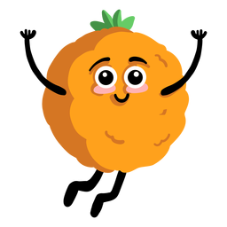 Orange tangerine mandarine flat