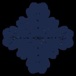 Ilustración de patrón de flores de diseño de adorno