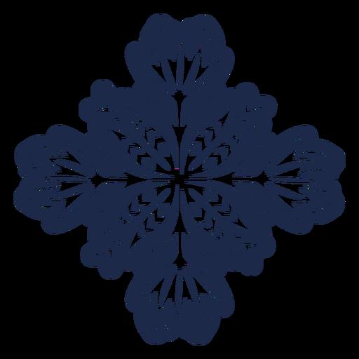 Ilustración de patrón de flores de diseño de adorno Transparent PNG