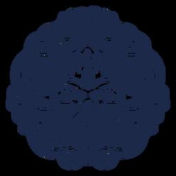 Ilustración de flor de patrón de diseño de adorno
