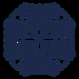 Ilustración de flor de diseño de patrón de ornamento