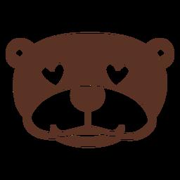 Lontra enamorada cabeça focinho plana