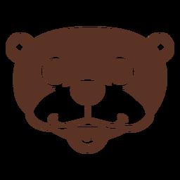 Lontra cabeça feliz focinho plana