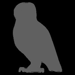 Búho águila búho pico silueta