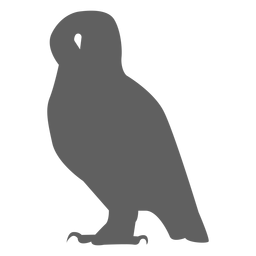Owl eagle owl beak silhouette