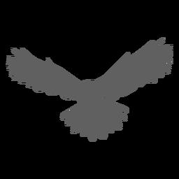 Búho ala águila búho silueta