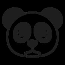 Panda angry head muzzle stroke