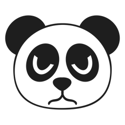 Panda wütend Kopf Mündungsschlag