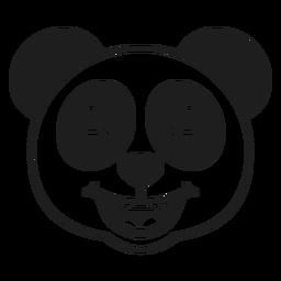 Panda feliz golpe de cabeza
