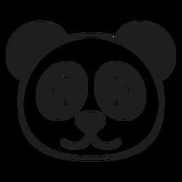 Panda alegre cabeza trazo de hocico