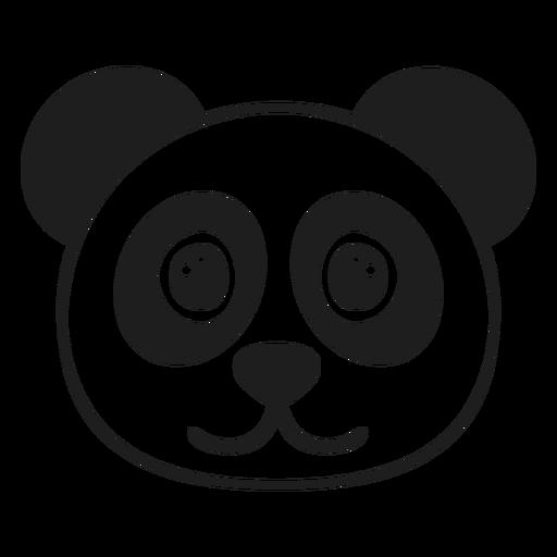 Panda joyful head muzzle stroke Transparent PNG