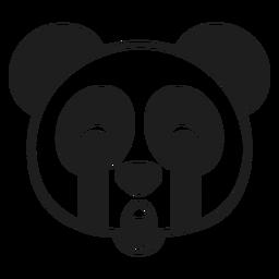 Panda sad head muzzle stroke
