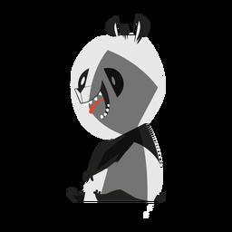 Bosquejo de panda spot sentado
