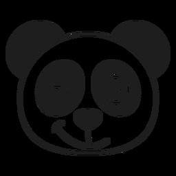 Curso de focinho de cabeça de piscadela de panda