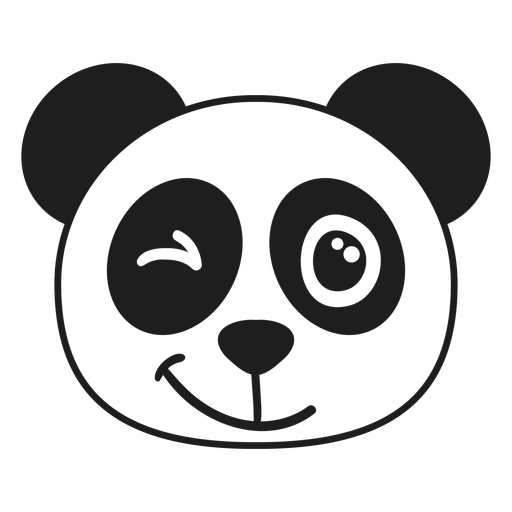 Golpe de hocico de cabeza de guiño Panda Transparent PNG