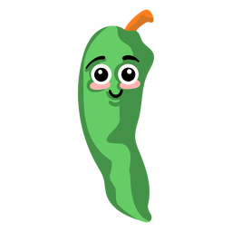 Paprika pepper flat