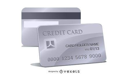 Vector de tarjeta de credito