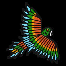 Papagaio voando colorido tatuagem colorida