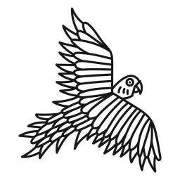 Papagei fliegen Tattoo Schlaganfall