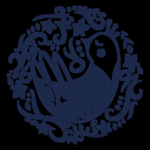 Padrão pássaro ornamento flor design ilustração Transparent PNG