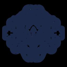 Musterverzierungsdesign-Blumenillustration