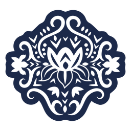 Patrón adorno diseño flor ilustración