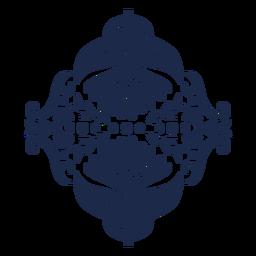 Ilustración de diseño de flor de ornamento de patrón