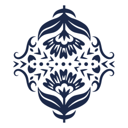 Musterverzierungs-Blumendesignillustration