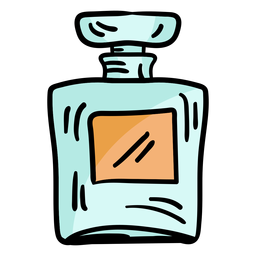 Bosquejo del frasco de perfume