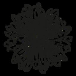 Línea de flores de gineceo de pétalos