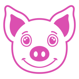 Pig joyful head muzzle stroke