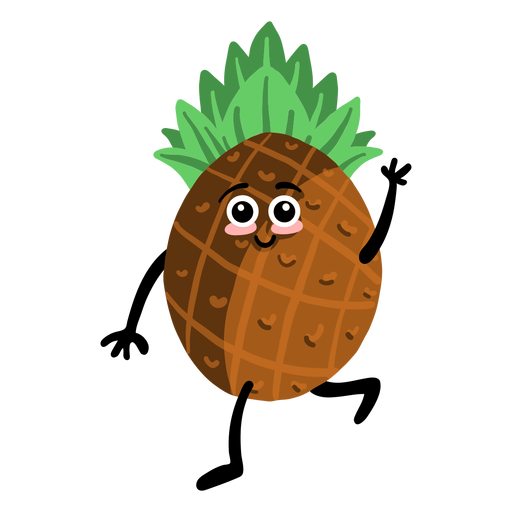 Pineapple ananas flat Transparent PNG