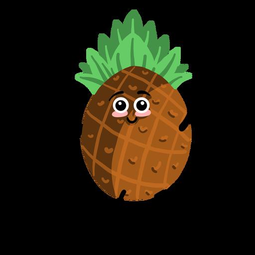 Pineapple ananas flat