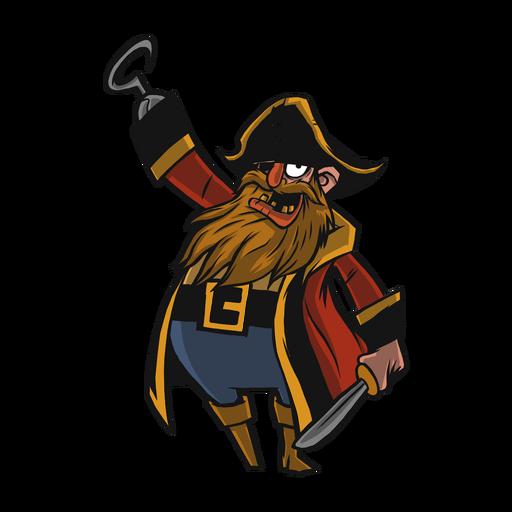 Pirate cocked hat beard flat