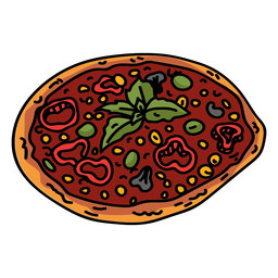 Pizza de tomate plana