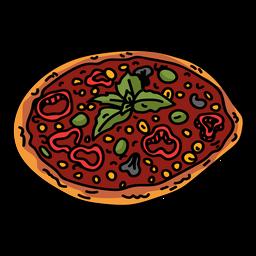 Pizza tomate plano