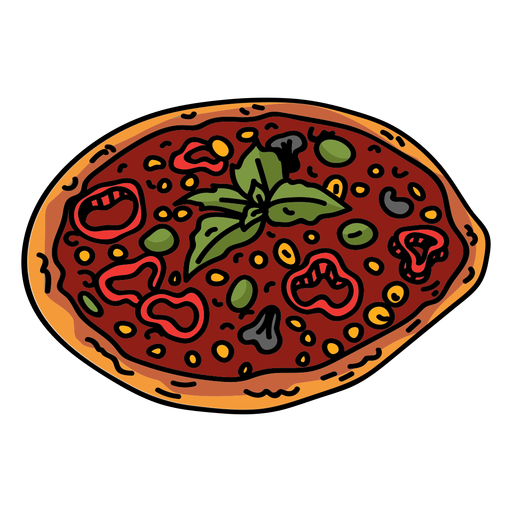 Pizza tomate plana Transparent PNG