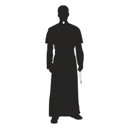 Priest cross bead silhouette