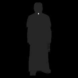 Sacerdote cruz cruz silueta