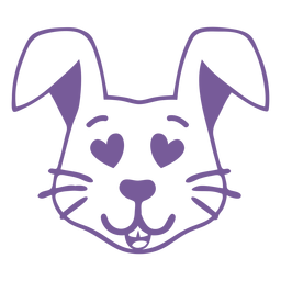 Curso de focinho de cabeça de coelho apaixonado