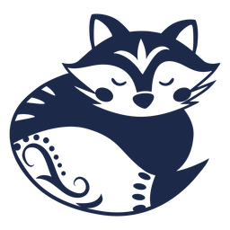 Ilustración de patrón de flor de ornamento de mapache