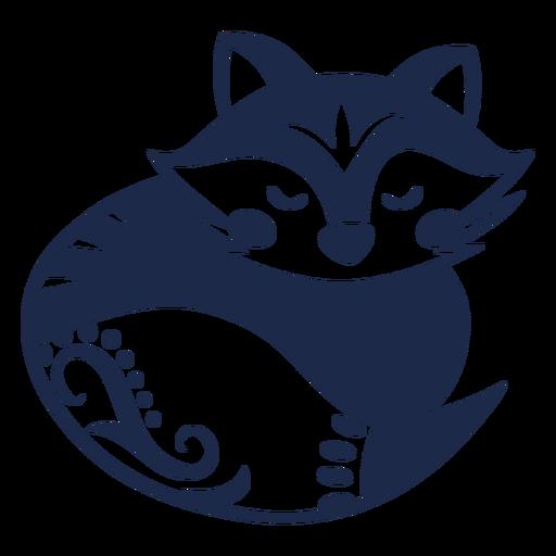 Raccoon ornament flower pattern illustration Transparent PNG
