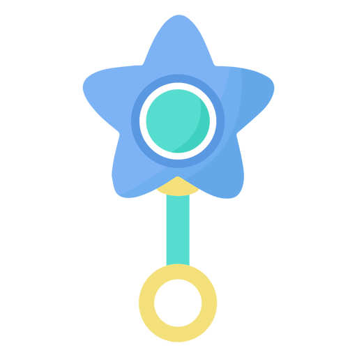 Rattle star flat Transparent PNG