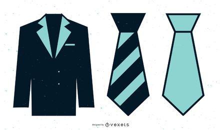 Conjunto de moda de negócios