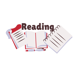 Reading book manual badge sticker