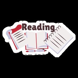 Reading book manual badge sticker