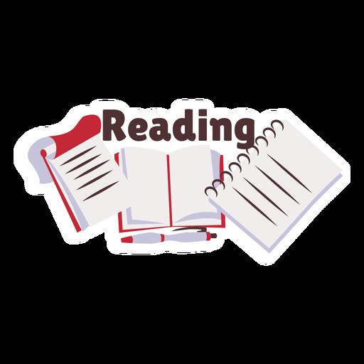 Etiqueta engomada de la insignia del manual del libro de lectura