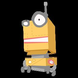 Boceto de antena de ojo de caja de robot