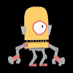 Bosquejo de mano de robot caja ojo