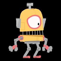 Dibujo de ojo de mano de caja de robot